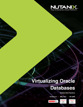 Oracle on Nutanix Best Practices Guide